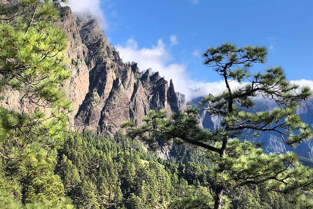 Las monjas en la Caldera de Taburiente La Palma