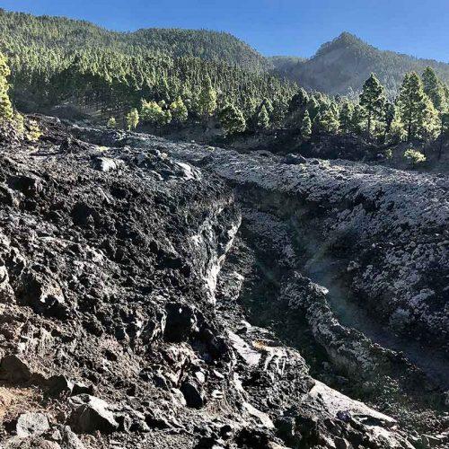 Las lavas del Volcán San Juan del 1949 en La Palma Islas Canarias
