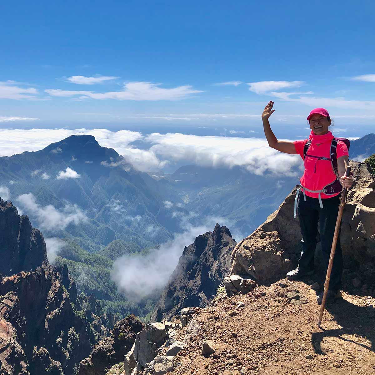 Senderismo por las montañas en La Palma GR131