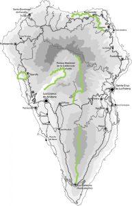 Mapa La Palma - Rutas programa Highlight