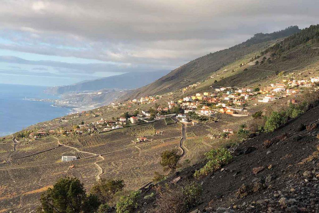 Las Indias con vista al oeste de La Palma