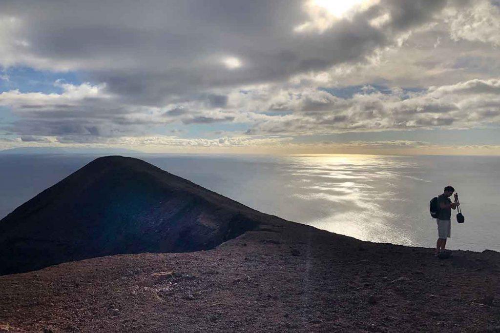 Encima del Teneguía Volcán